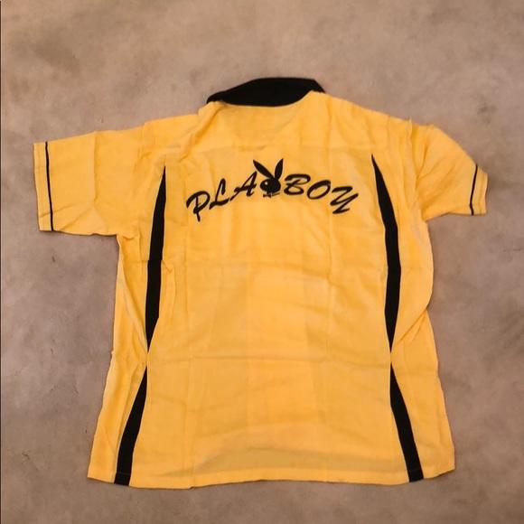83b434719e6 NWTS Supreme x Playboy Yellow Bowling Shirt - sz M